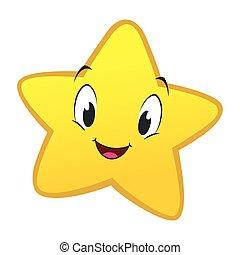 peu, étoile, dessin animé