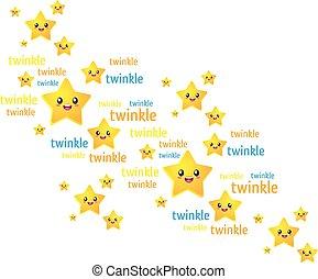 peu, étoiles, scintillement