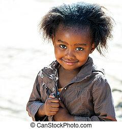 peu, africaine, outdoors.