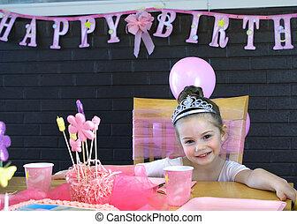 peu, anniversaire, heureux, ballerine