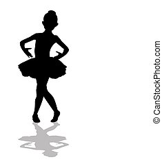 peu, ballerine, silhouette