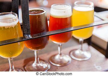 peu, bières
