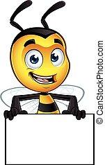 peu, caractère, abeille