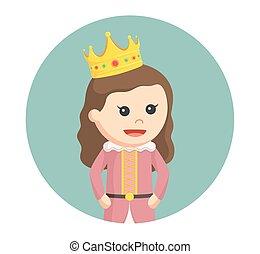 peu, cercle, fond, princesse