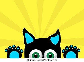 peu, chaton, surpris