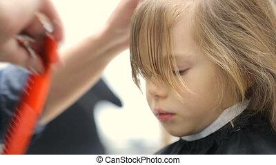 peu, coiffeur, girl
