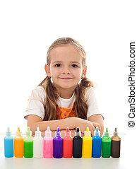 peu, coloration, girl, elle, kit