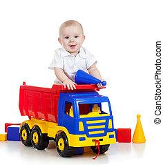 peu, couleur, jouer, jouets, enfant