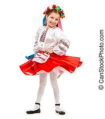 peu, déguisement, girl, ukrainien