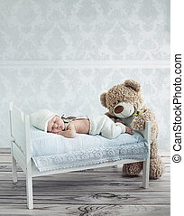 photos et images de mignon teddy ours dormir 2 107 photographies et images libres de droits de. Black Bedroom Furniture Sets. Home Design Ideas