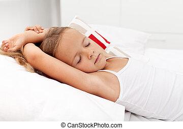 peu,  girl, dormir