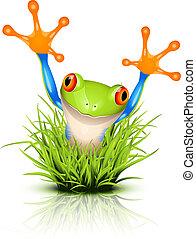peu, herbe, rainette