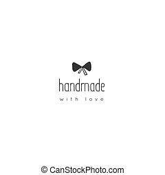 peu, illustration., fait main, isolé, main, vecteur, gabarit, logo, dessiné, knot.