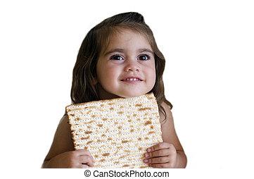 peu, juif, pâque, girl, vacances, heureux
