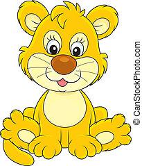 peu, lion