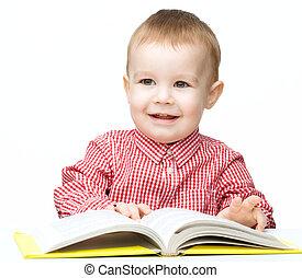 peu, livre, jeu, enfant