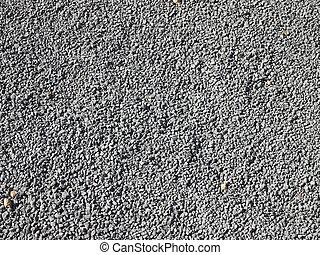 peu, lotissements, gravier, gris, rochers