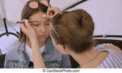 peu, mode, 4k, joli, maquillage, modèle