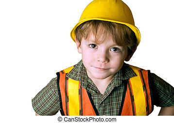 peu, ouvrier construction