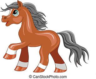 peu, poney