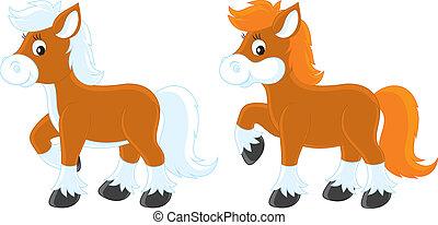 peu, poneys