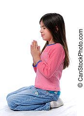 peu, prier,  girl