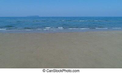 peu profond, plage, mer, paysage