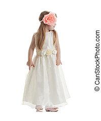 peu, robe, girl, long