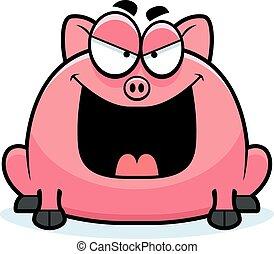 peu, sinistre, cochon