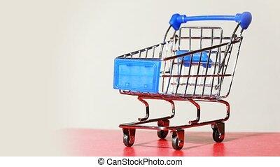 peu, tourner, charrette, métallique, plate-forme, achats