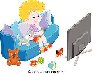 cliparts et illustrations de tv enfant regarder 41 graphiques dessins et illustrations libres. Black Bedroom Furniture Sets. Home Design Ideas