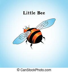 peu, voler, ciel, illustration, abeille, vecteur