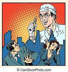 peur, concept, monde médical, art dentaire