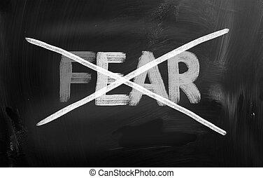 peur, concept, non