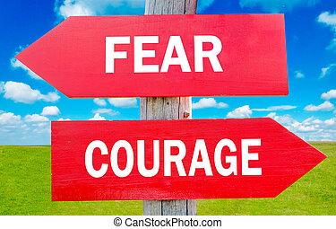 peur, courage
