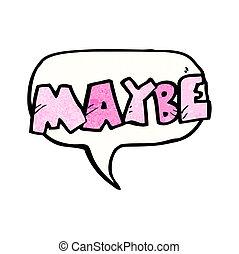peut-être, cri, dessin animé