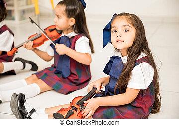 peuter, muziek, mooi, leren