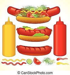 pevně, hotdog