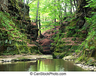 Pewits Nest - Wisconsin Dells - A slot canyon running...