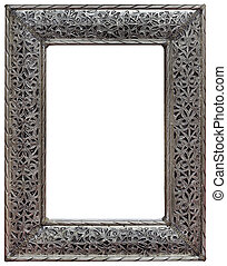 Pewter Mirror Frame Cutout - Moroccan Hewed Pewter Mirror...