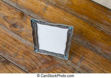 Pewter Picture Frame - A pewter picture frame with blank...