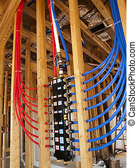 PEX Plumbing manifold is the future of plumbing. The PEX Tubing is run through the ceiling instead of in the slab foundation - so no more digging up the foundation when you have a leadk. Different parts of the water system can be turned off at the manifold. For example, if you are working on the ...