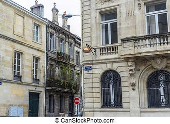 Pey-Berland square of Bordeaux, Aquitaine. France.