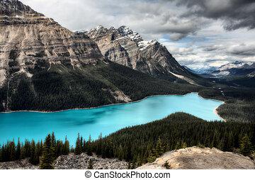 Peyto Lake Alberta Canada emerald green color