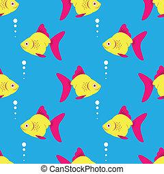 pez azul, pattern., seamless