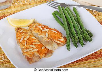 pez, comida, filete