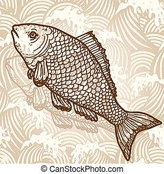 pez, mar