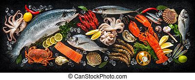 pez, mariscos, fresco