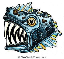pez, monstruo