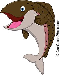 pez,  Salmón, caricatura
